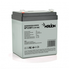 Акумуляторна батарея MERLION AGM GP1250F1, 5Ah 12V ( 90 х 70 х 100 (105) ) Q10
