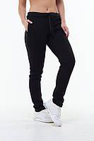 Тёплые женские спортивные штаны брюки чёрные 42 44 46 48 50 52 54 56, фото 1
