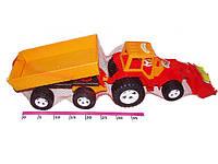Игрушка трактор с прицепом и ковшом