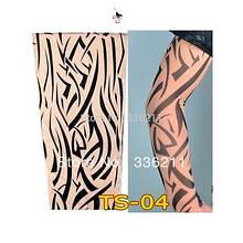 Экстримальный тату-рукав с эффектом татуажа