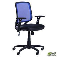 Крісло Онлайн сидіння Сітка чорна/спинка Сітка синя AMF