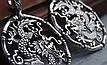 Серебряные серьги - подвески дракон, фото 3