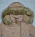 Куртка зимняя для девочки бежевая (S&D, Венгрия), фото 2