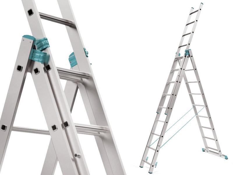 Лестница алюминий 3х8 ALOSS 645 см