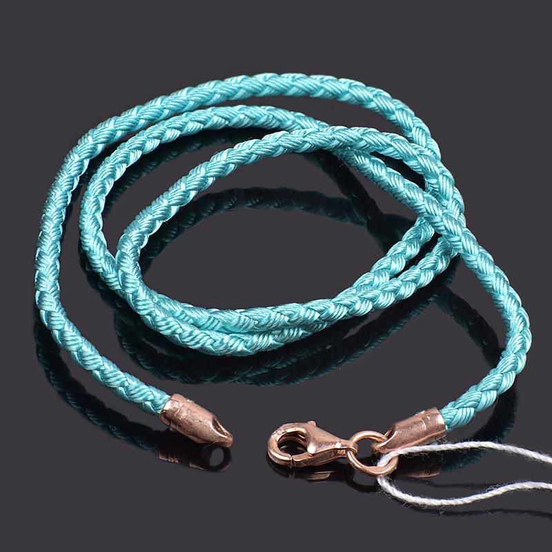 Детский шнурок плетеный шелковый с позолотой