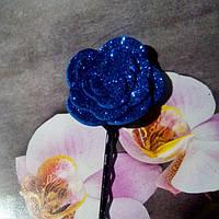 Невидимка с цветком,синяя