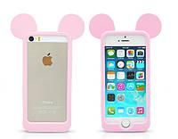 Розовый силиконовый бампер для Iphone 5/5S, фото 1