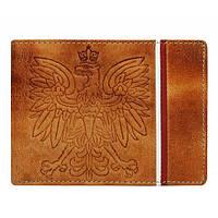 Мужской бумажник натуральная кожа (светло-коричневый) Buffalo Wild , фото 1