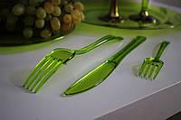 Нож одноразовый серебряный стеклопластик  для фуршета, банкета,  презентации, выставки 12 шт 200 мм CFP, фото 1