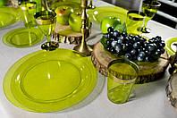 Сервировочная посуда тарелки стекловидные для фуршета банкета презентаций выставки PARTY CFP 6шт/уп 260мм
