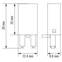 RIM 1 6/230VDC Светодиод / модули защиты, фото 2