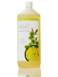 Органическое мыло Citrus-Olive жидкое, бактерицидное с цитрусовым и оливковым маслами 1л, фото 2
