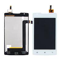 Дисплей для Lenovo A1000 (смартфон) с белым тачскрином