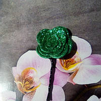 Невидимка с цветком,зеленая.