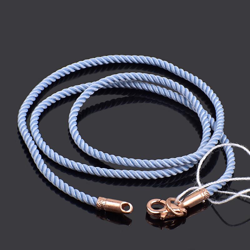 Шелковый шнурок Милан с позолоченным замком