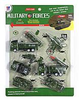 Военный транспорт: Набор спецтехники машинки, на листе