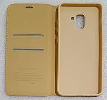 Чохол книжка Southking для Samsung Galaxy A8 Plus 2018 gold, фото 2