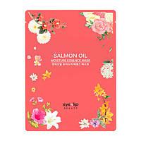 Тканевая маска для разглаживания морщин с экстрактом лососевого масла Eyenlip Salmon Wrinkle Essence Mask