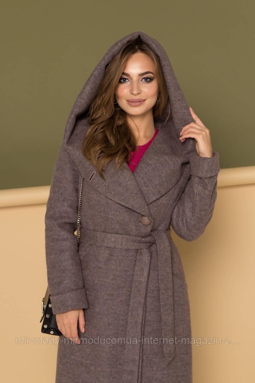 """Женское серое зимнее пальто  """"Марис"""" с 42 по 50 размер (девис)"""