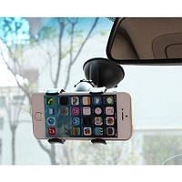 Холдер для смартфона в машину Holder Прищепка двойная держатель телефона и навигатора в авто