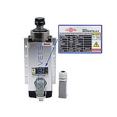 Шпиндель (с фланцем) GDZ80X73-2.2, 2.2 kw, 6А, ER20 с воздушным охлаждением, 4 керамических подшипника , фото 3