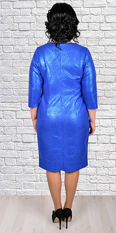 Нарядное платье с фигурным декольте, большие  размеры, фото 2