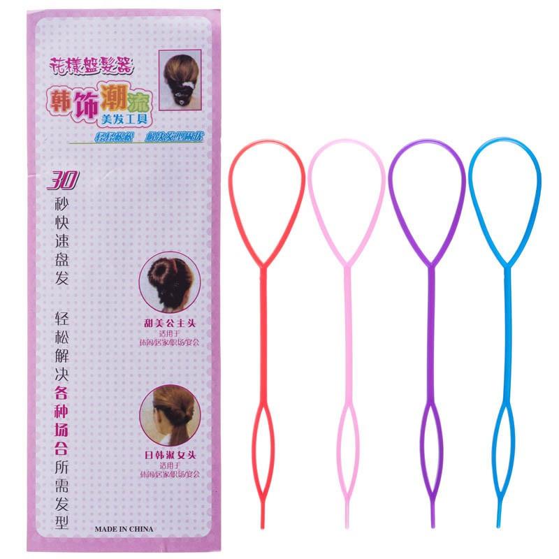 Набор фиксаторов для плетения волос, 4шт