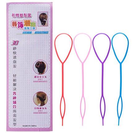 Набор фиксаторов для плетения волос, 4шт, фото 2