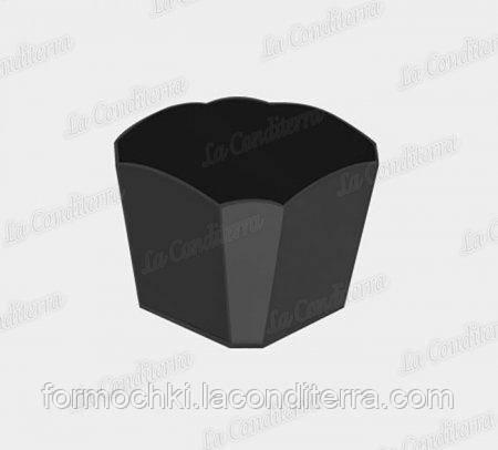 Стакан фигурный черный «Sfizio Smeraldo» (60 мл)