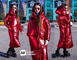 Зимнее пальто  Сабрина 42-56 р красный