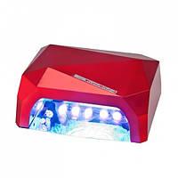 LED+CCFL гибридная лампа для гель лаков и геля (красная).