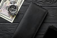 Мужское кожаное портмоне кошелек Финансист черный, фото 1