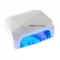LED+CCFL гибридная лампа для гель лаков и геля (белая)., фото 1
