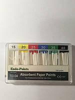 Штифты абсорбирующие бумажные  Endo-Points T0.06 #15-40 100шт.