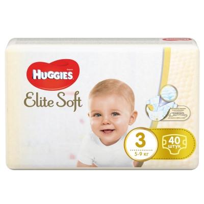 Подгузники Huggies Elite Soft 3 (5-9 кг)40  шт.