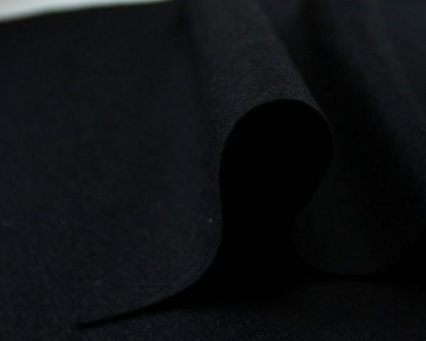 Фетр листовой размер А3, 29х42см, полиэстер, цвет Черный