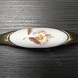 Меблева ручка з керамікою MAR 7456 096 F1 бронза, фото 6
