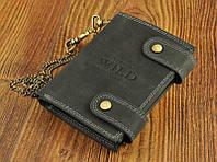 Кошелек, портмоне с цепью натуральная кожа Always Wild , фото 1