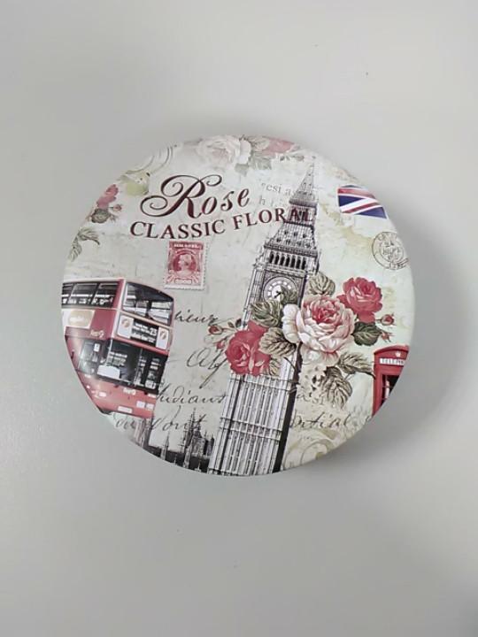 Коробочка железная с надписью rose classic floral