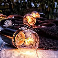 РЕТРО ГИРЛЯНДА 25 метров 50 ламп черный цвет, Ретро гирлянды из ламп накаливания!!!