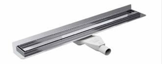 Душовий канал Premium з вертикальним фланцем для гідроізоляції, решітка SIROCCO