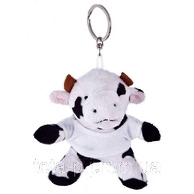 Игрушка брелок  в виде коровы, под логотип