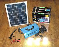 Солнечное зарядное инвертор 12V-220V + 3 LED лампы GD-8018