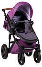 Коляска 2 в 1 Bair Leo кожа 100% G-34 фиолетовый (плетение)-фиолетовый, фото 4