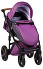 Коляска 2 в 1 Bair Leo кожа 100% G-34 фиолетовый (плетение)-фиолетовый, фото 5