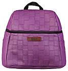 Коляска 2 в 1 Bair Leo кожа 100% G-34 фиолетовый (плетение)-фиолетовый, фото 6