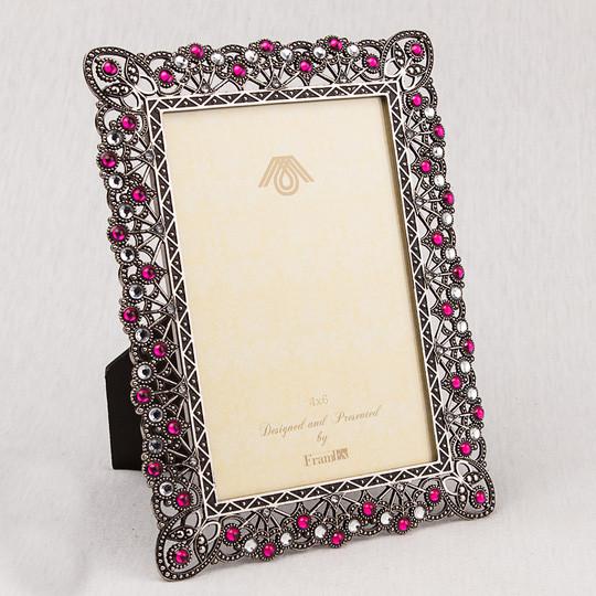 """Фоторамка """"Рубины и алмазы"""" (15*20 см, ф - 10*15 см) 022V"""