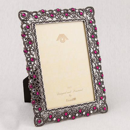 """Фоторамка """"Рубины и алмазы"""" (15*20 см, ф - 10*15 см) 022V, фото 2"""