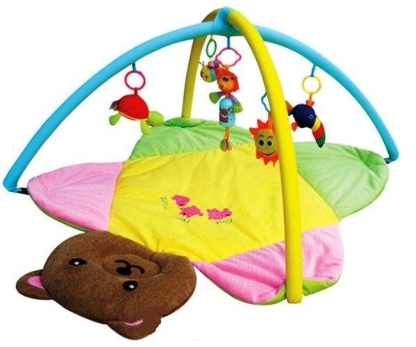 Детский коврик с погремушками Медвежонок 898-8B