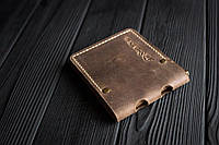 Зажим для денег кожаный mod.Stayer brown с монетницей, фото 1